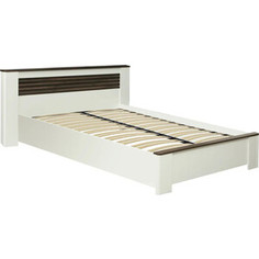 Кровать ОЛМЕКО 36.02 Амелия 120 белый лофт/дуб стайлинг/профиль: белый/профиль: дуб стайлинг