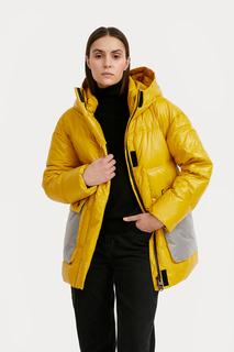 Куртка женская Finn Flare W20-12036 бежевая XL