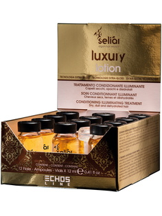 Лосьон-кондиционер Echos Line, SELIAR LUXURY для сухих волос 12*12 мл
