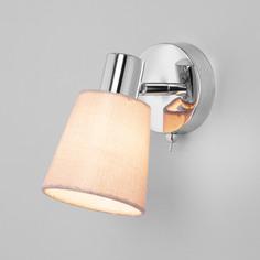 Настенный светильник Eurosvet 20080/1 хром/бежевый