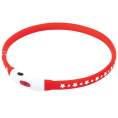Ошейник для собак электронный Triol NIGHT CITY Звезды, обхват шеи 55 см, пластик, красный