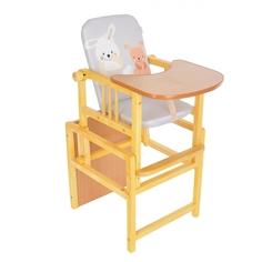 Стульчик-стол для кормления (трансформер) BAMBOLA с регулируемой спинкой Зайка/Щенок Серый