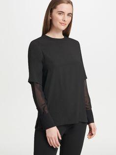 Блуза женская DKNY P9DA7BPM/BLKM черная M