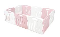 Большой детский манеж Ifam SHELL, розовый, белый
