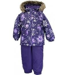 Комплект куртка + полукомбинезон для девочек Huppa цв. фиолетовый р-р. 92