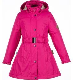 Пальто для девочек Huppa цв. розовый р-р. 128