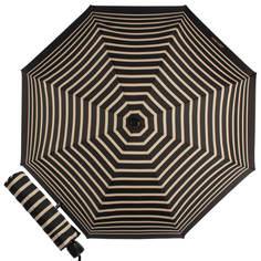 Зонт женский Jean Paul Gaultier 207-OC Stripes черный/бежевый