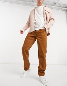 Классические джинсы горчичного цвета ASOS DESIGN-Желтый