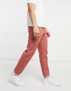 Темно-персиковые укороченные джинсы прямого кроя ASOS DESIGN-Красный