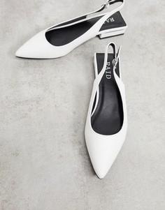Белые туфли на плоской подошве сремешком через пятку Raid Kinjal-Белый