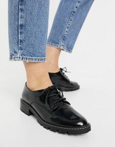 Черные ботинки броги на шнуровке Miss Selfridge-Черный цвет