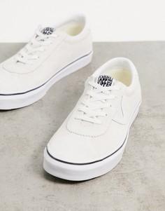 Белые замшевые кроссовки Vans Sport-Белый