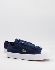Темно-синие кроссовки Lacoste Zaine Plus Grand-Черный цвет