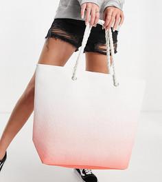 Коралловая пляжная сумка с эффектом омбре South Beach-Оранжевый цвет