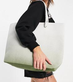 Пляжная сумка мятного цвета сэффектом омбре South Beach-Зеленый цвет