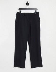Черные широкие брюки строгого кроя Y.A.S-Черный цвет