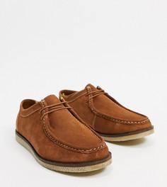 Светло-коричневые замшевые туфли для широкой стопы Silver Street-Коричневый цвет
