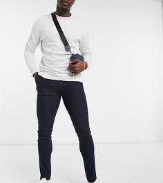 Темно-синие зауженные брюки ASOS DESIGN Tall-Темно-синий