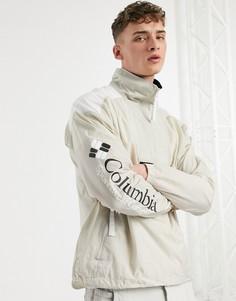 Бежевая куртка-анорак Columbia Santa Ana-Белый
