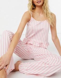 Пижама врозовую полоску Miss Selfridge-Розовый цвет