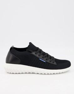 Черные сетчатые кроссовки Jack & Jones-Черный цвет