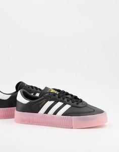 Черные кроссовки с контрастной подошвой adidas Originals Samba Rose-Черный цвет