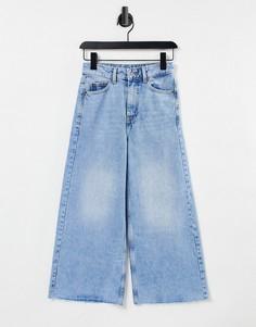 Укороченные джинсы с широкими штанинами Dr Denim Aiko-Голубой
