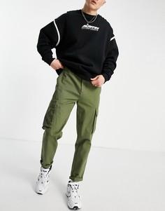 Брюки-карго цвета хаки New Look-Зеленый цвет