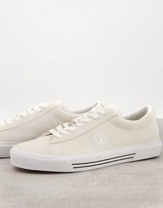 Белые замшевые кроссовки Vans Sid-Белый