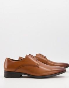 Светло-коричневые кожаные туфли дерби Office Micro-Коричневый цвет