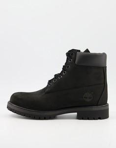 Черные ботинки высотой 6 дюймов Timberland Premium-Черный цвет