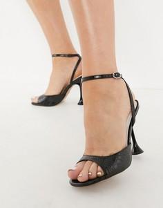 Белые туфли на каблуке Topshop RANDAL-Белый