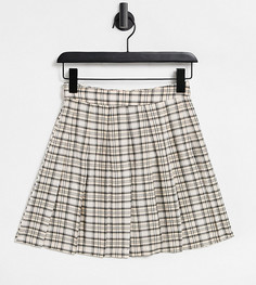 Летняя теннисная юбка в клетку Reclaimed Vintage Inspired-Многоцветный