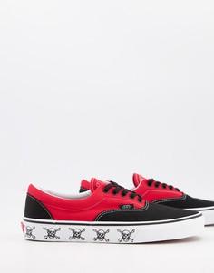 Черные/красные кроссовки Vans Era-Черный цвет