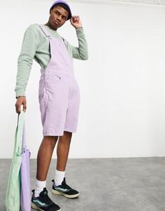 Фиолетовый вельветовый комбинезон сшортами ASOS DESIGN-Фиолетовый цвет