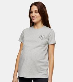 Серая футболка с принтом Hey Baby Topshop Maternity-Серый