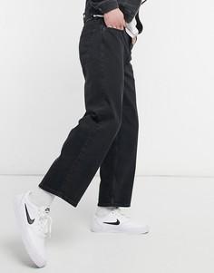 Винтажные черные джинсы с широкими штанинами Jack & Jones Intelligence Rob-Черный цвет