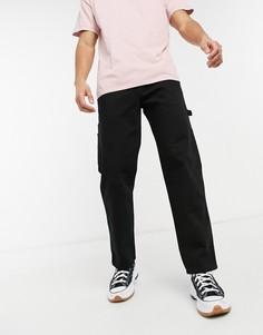 Черные джинсы в рабочем стиле Topman-Черный цвет