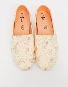 Парусиновые туфли с ананасовым принтом Toms-Медный