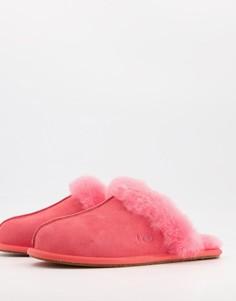 Слиперы цвета клубничного сорбета UGG Scuffette II-Розовый