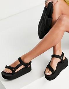 Черные сандалии в спортивном стиле на платформе Truffle Collection-Черный цвет