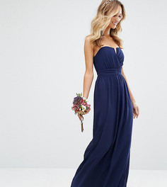 Платье макси бандо TFNC-Темно-синий