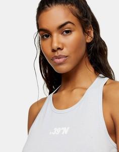 Серый спортивный топ-майка Topshop-Голубой