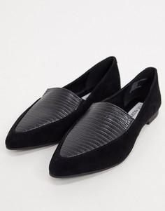 Черные туфли на плоской подошве с острым носком Steve Madden-Черный