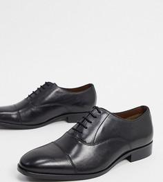 Черные кожаные туфли на шнуровке Dune wide fit-Черный