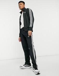 Черные джоггеры с тремя полосками adidas Originals adicolor Firebird-Черный