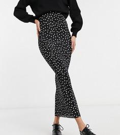 Плиссированная прямая юбка макси в горошек ASOS DESIGN Tall-Многоцветный