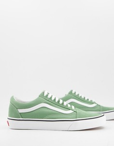 Зеленые кроссовки Vans Old Skool-Зеленый цвет