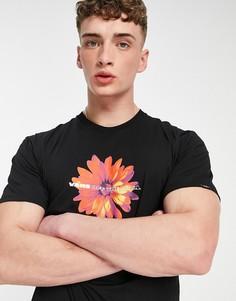 Черная футболка с короткими рукавами Vans Blooming-Черный цвет