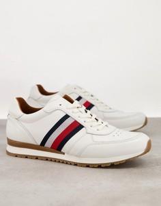 Белые кожаные кроссовки для бега Tommy Hilfiger-Белый